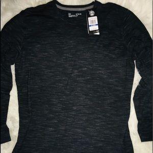 Under Armour Charcoal Mica Long Sleeve Shirt sz XL